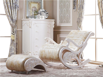 爱丽舍宫家具·爵典家居欧式书房实木YC-813ab摇椅