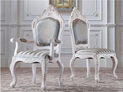 爱丽舍宫家具·爵典家居欧式餐厅实木雕花餐桌椅C-802A+B