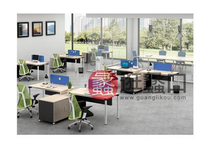 蠡口办公家具直销现代简约板式E3-7606班台/主管桌2人位