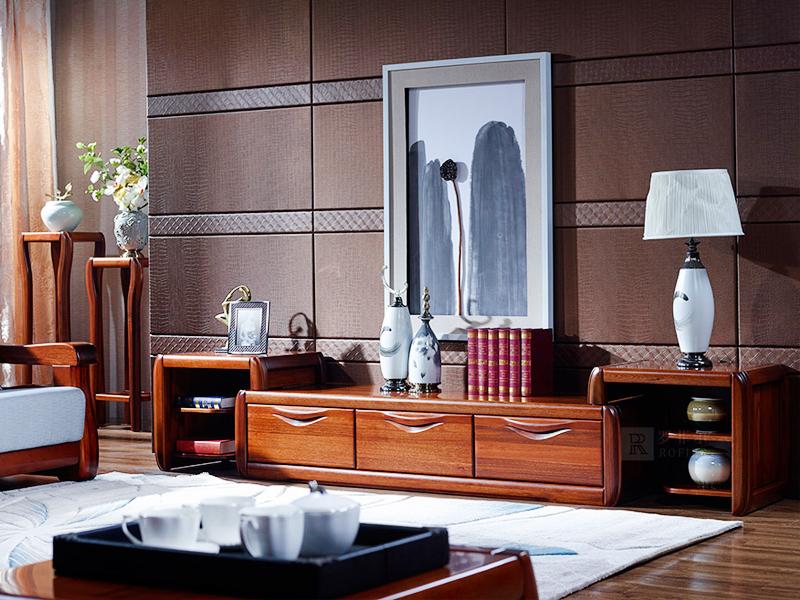 罗菲尔家具现代中式书房金丝檀木CF01高低高电视柜