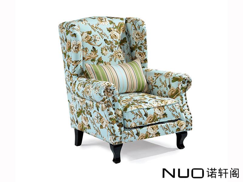 诺轩阁家具美式轻奢客厅实木C-5老虎椅