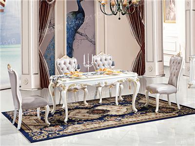 爱普菲斯家具欧式新古典餐厅实木白色餐桌椅B05#长餐桌/B10#椅子/E20#餐边柜