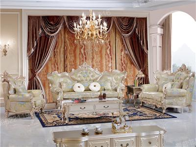 爱普菲斯家具新古典客厅实木香槟色双人位/三人位/单人位利发国际D939#