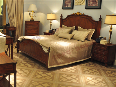 优胜美地家具·爵典家居美式卧室实木双人大床
