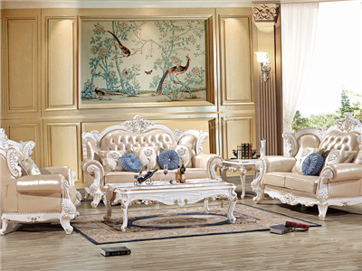 爱普菲斯家具 欧式珠光白实木利发国际/茶几欧式客厅利发国际