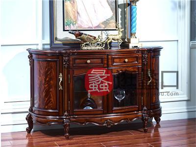 奢艺绘家具·爵典家居欧式餐厅深色实木餐边柜