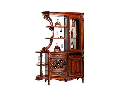 奢艺绘家具·爵典家居欧式餐厅实木雕花酒柜