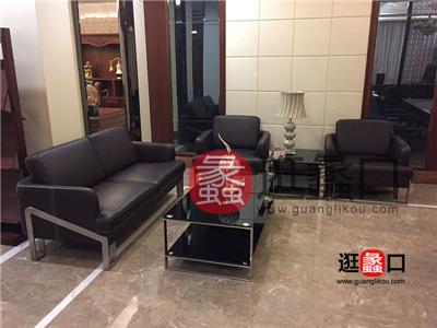 欧客莱实木办公家具简约现代客厅1+2+3沙发