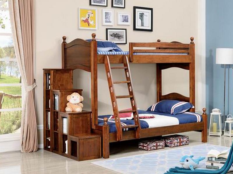 健辉家居·美伦卡家具美式卧室实木子母床W8107