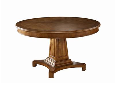 有有家家居网 利兹 高端美式蜜糖色实木圆餐桌3D-BDT02