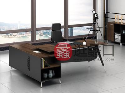 蠡口办公家具直销北欧板式A1-2602班台/主管桌