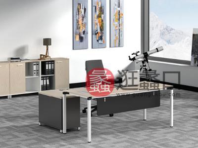 蠡口办公家具直销现代简约板式E3-7602班台/主管桌