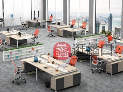蠡口办公家具直销现代简约板式E3-7608职员4人位办公桌