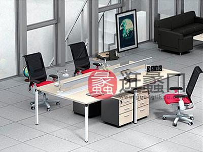 蠡口办公家具直销现代简约板式E3-7609职员4人位