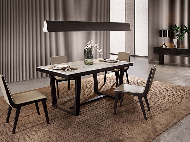 斯帝罗兰简约现代餐厅板木餐桌椅BF-CT2800