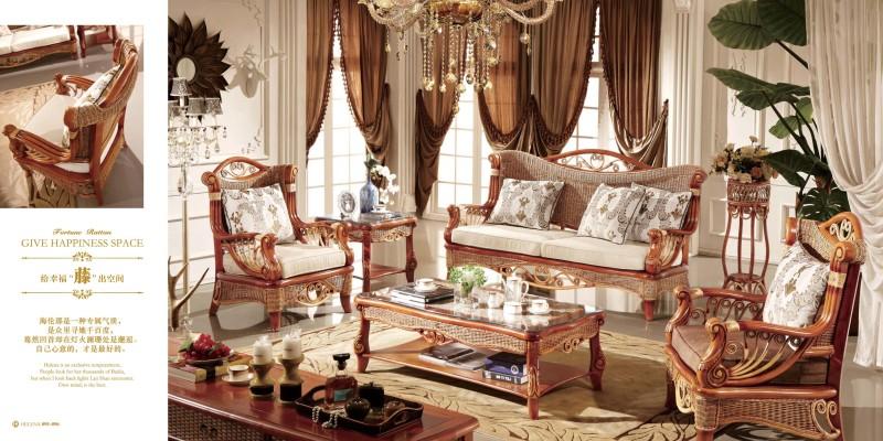 藤缘家具欧式客厅沙发