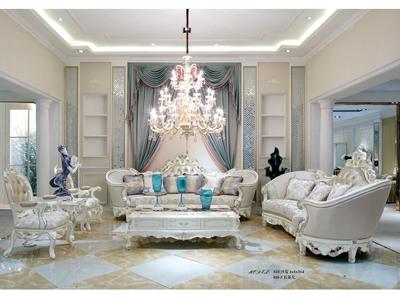 香奈伯爵欧式客厅橡木沙发1+2+3