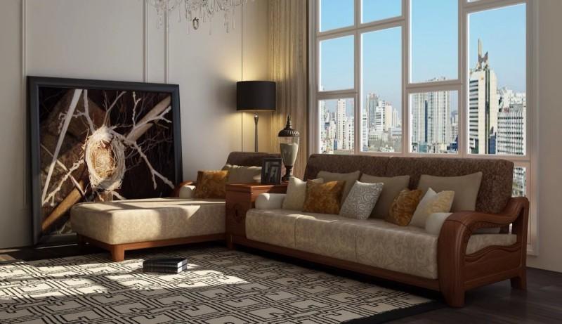 久典家具凯宴系列新中式客厅沙发