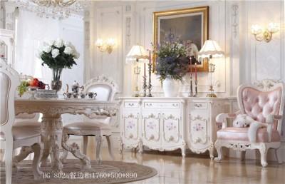 爱丽舍宫欧式法式宫廷系列手工描花时尚典雅802餐边柜