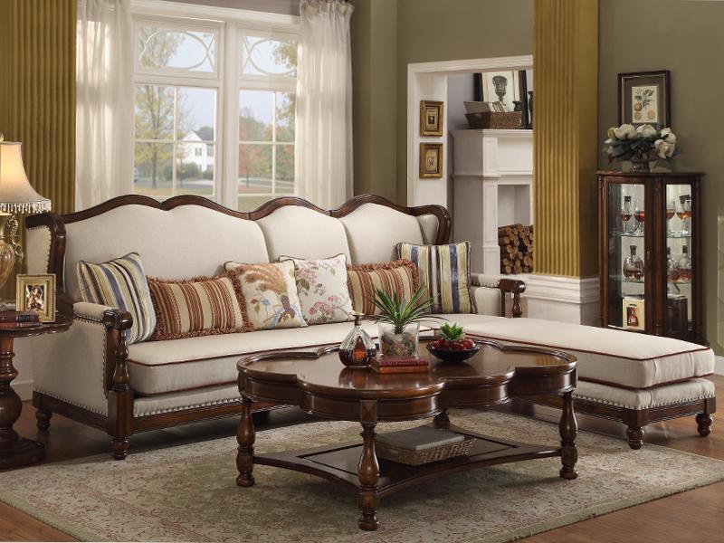 凯迪斯顿家具美式客厅沙发美式转角布艺沙发组合简美实木沙发设计师小户型X602-16