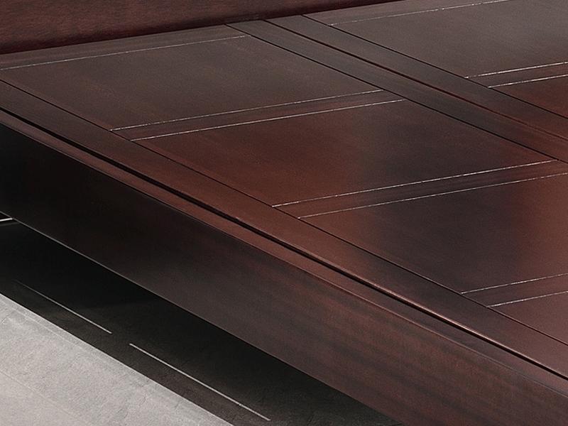 雅沐家具新中式卧室床TX883实木床床现代中式床双人床1.8米床中式禅意家具卧室 檀木床京作工艺