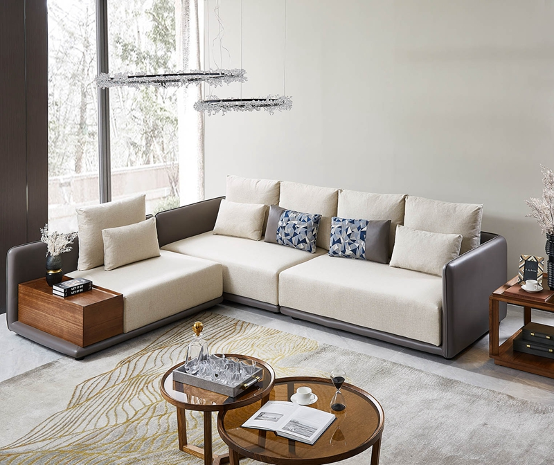 洛克现代客厅布艺沙发W-8112单人位+双人位+三人位