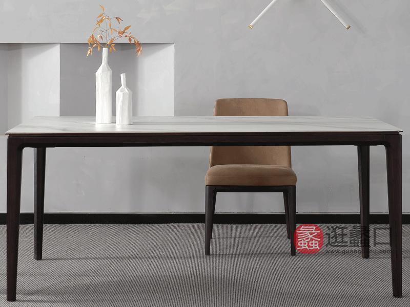 斯可馨家居现代餐厅餐桌椅简约实木餐桌餐厅长餐桌003
