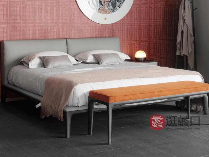 斯可馨家居意式现代极简卧室床意式极简实木床卧室木床006