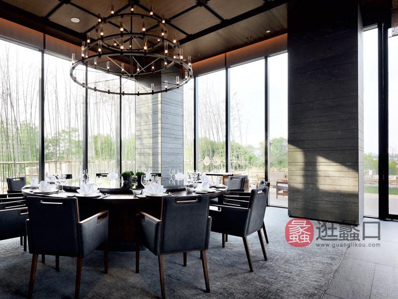 赫庭家具酒店酒店桌椅酒店中餐厅家具酒店餐桌椅休闲沙发004