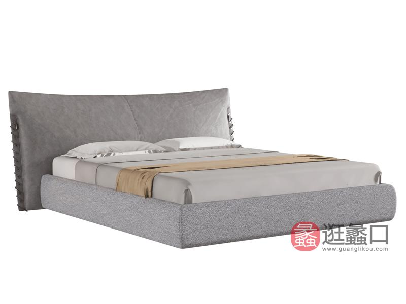 环宸轻奢卧室床舒适软体大床时尚皮床19615