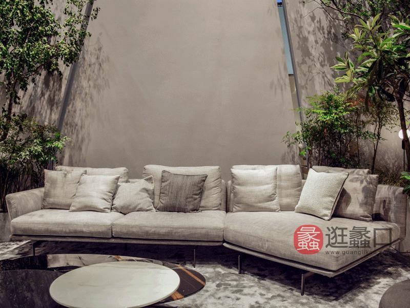 钦驰意式极简客厅沙发时尚舒适软体布艺沙发组合839