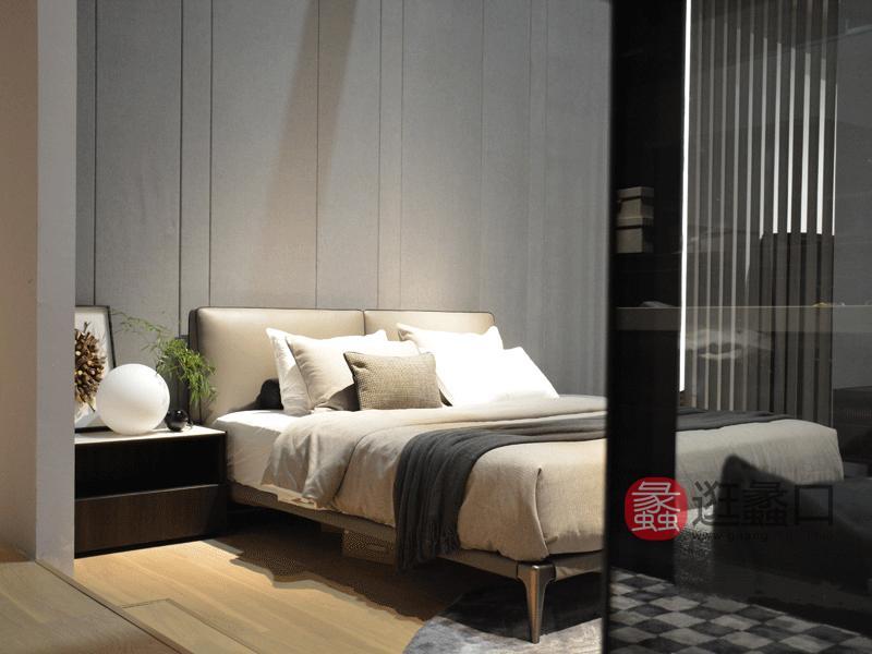 钦驰意式极简时尚卧室床舒适软床大床双人床118