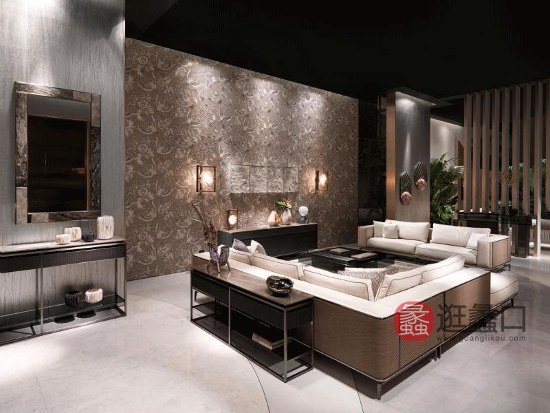 缇思微卡轻奢客厅沙发高品质轻奢时尚沙发组合TS004