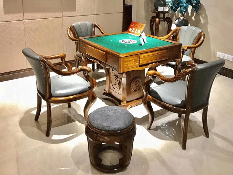 安东尼奥家具新中式餐厅餐桌椅陆虎凯旋新中式麻将桌桌子CZ001