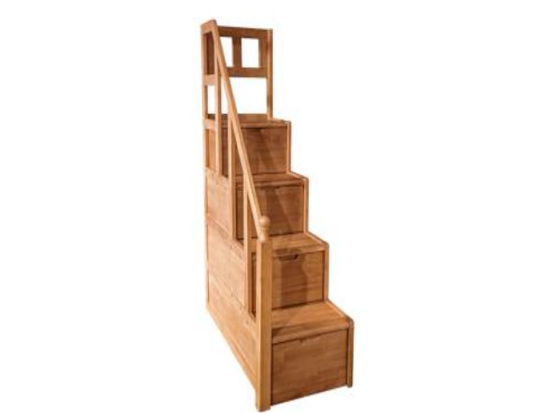 七彩时光儿童实木家具儿童房子母床步梯收纳柜玩具柜W09#步梯收纳柜琥珀金