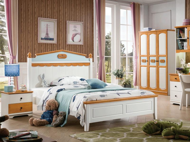 七彩时光儿童实木家具儿童儿童房全套家具儿童房套房家具实木儿童家具W8911#套房