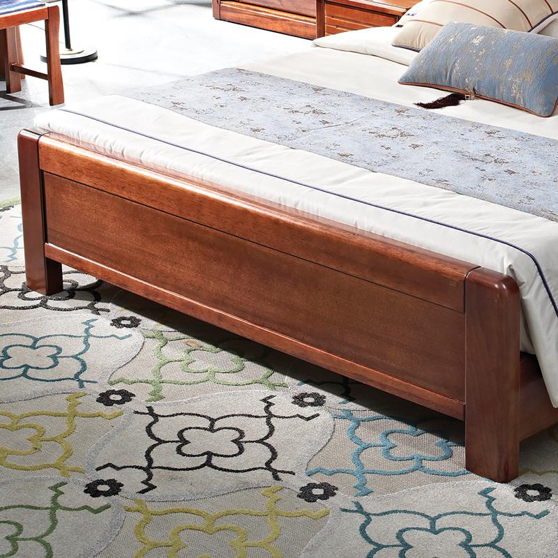 新中式卧室床现代中式简约卧室床【特价】床实木床金丝檀木床TJ001