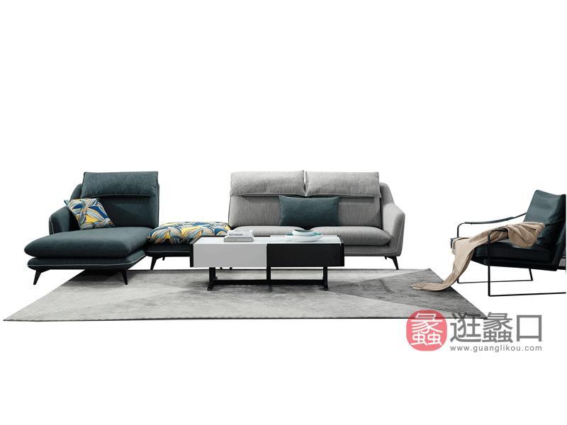 大城小爱家具现代客厅沙发麻布沙发1820#