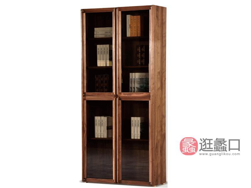 汉斯格尔家具北欧书房书柜北美黑胡桃实木书柜YS-005书柜