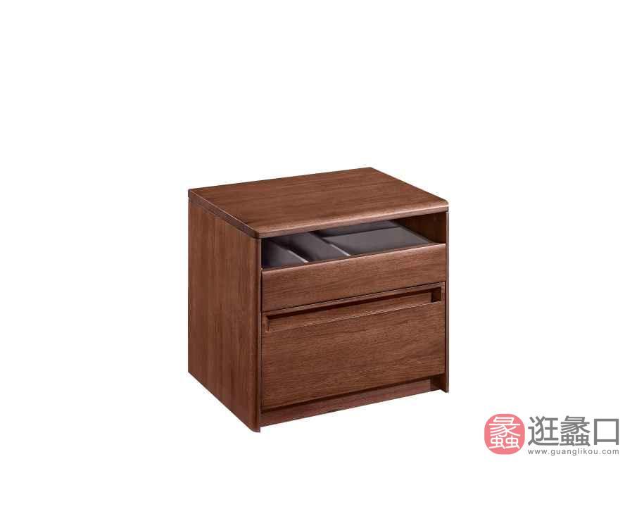 柏森优品LD+实木中式卧室床头柜B3707