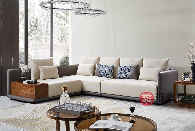 洛克现代客厅布艺沙发W-8112