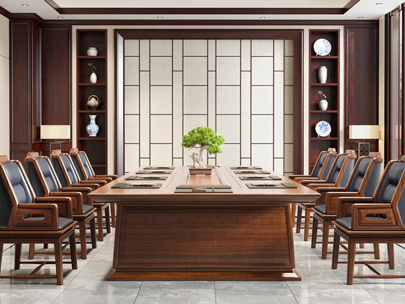 新思维办公家具办公进口实木会议桌总部高端会议桌H3-T0616会议桌