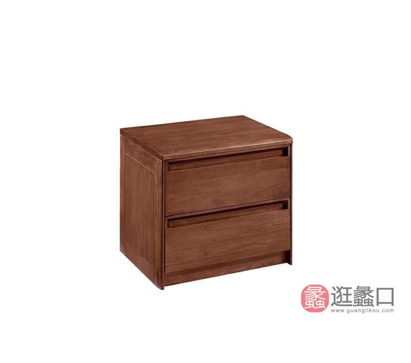 柏森优品LD+实木中式卧室床头柜B3708