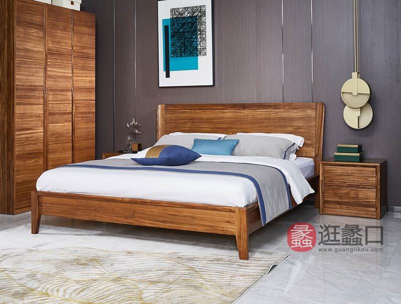洛克现代卧室床W-9116