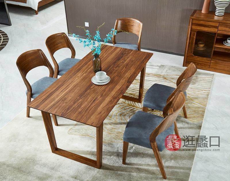 洛克现代餐厅餐桌椅W-6102