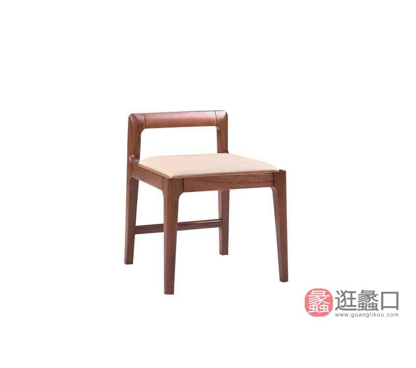 柏森优品LD+实木中式卧室梳妆凳C3701D