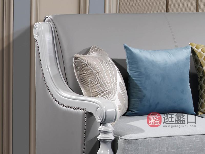 兰迪家具美式客厅沙发轻奢简约实木美式沙发602转角沙发