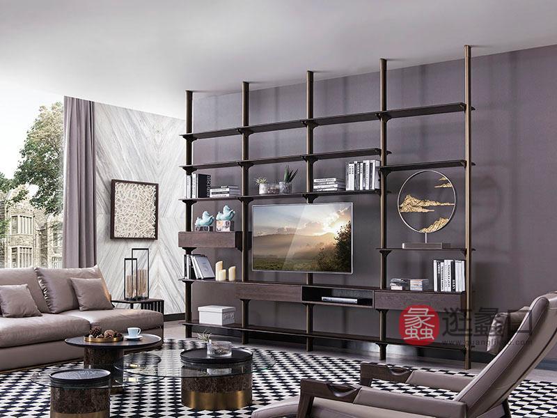 德国优客家具现代实木客厅时尚多功能置物架