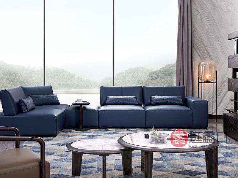 德国优客家具现代实木客厅艺术沙发组合