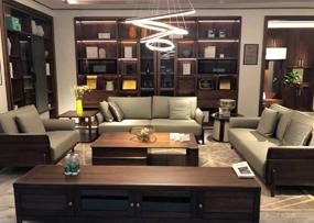 柏森优品LD+现代客厅沙发南美胡桃木实木沙发S3706-3